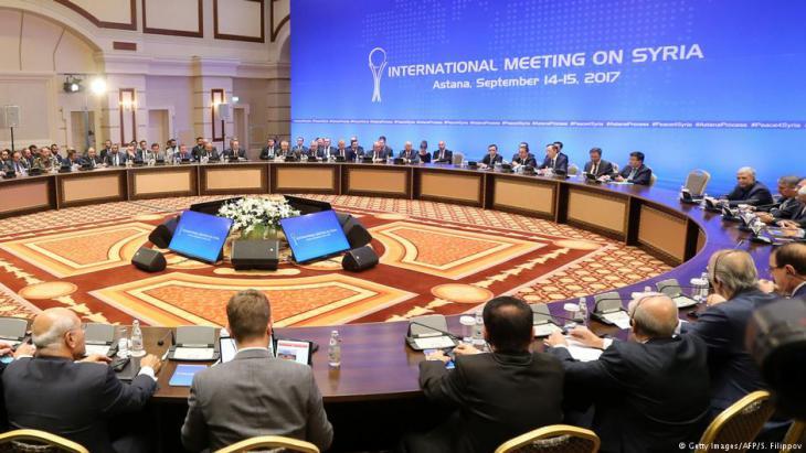 محادثات سورية في سبتمبر 2017 في أستانا. Foto: Getty Images/AFP