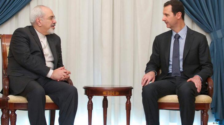 من زيارة وزير الخارجية الإيراني جواد ظريف لرئيس النظام السوري بشار الأسد في 15 / 01 / 2014. Foto: Reuters