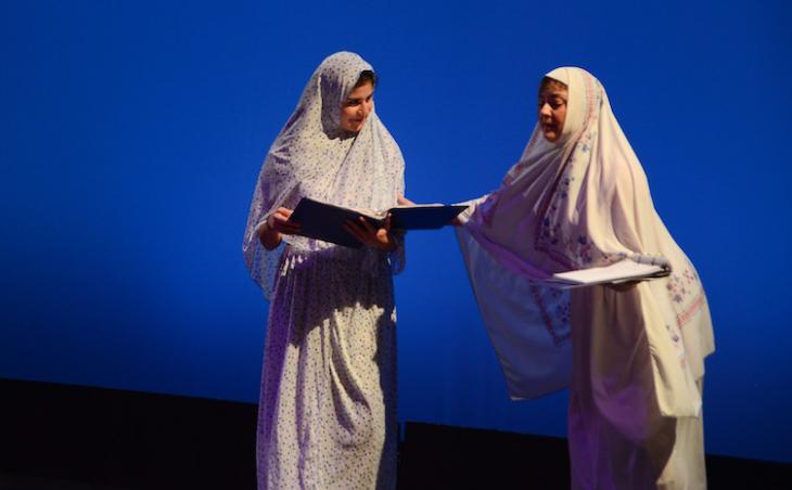 Scene from 'The Art of Hijab, Kohl Black and The Right Way To Pray' (source: LPAC Rough Draft Festival)
