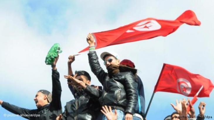 متظاهرون ضد نظام بن علي السابق في تونس