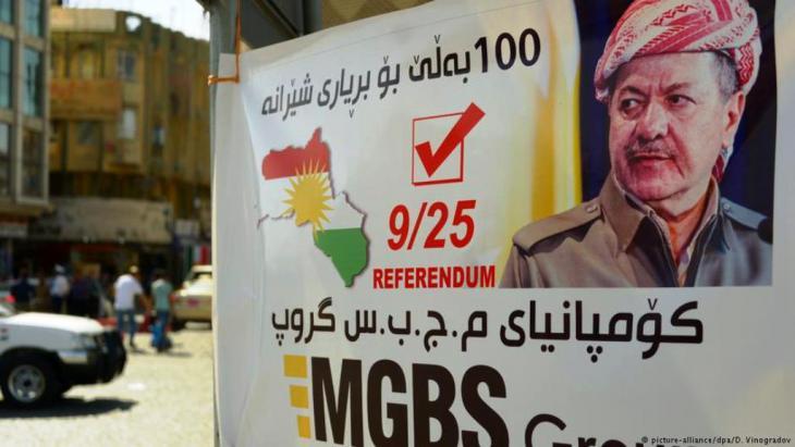 صورة مسعود برزاني ... دعاية لاستقلال كردستان العراق.: Picture alliance /DPA