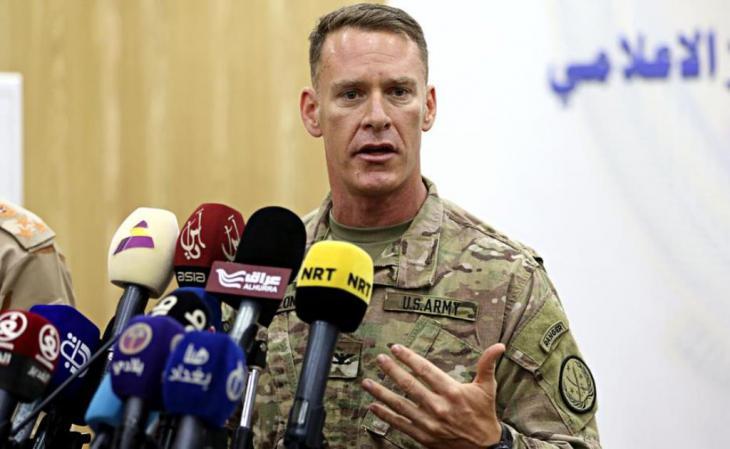 الكولونيل ريان ديلون، المتحدِّث الرسمي باسم الجيش الأمريكي في الشرق الأوسط. Foto: AP