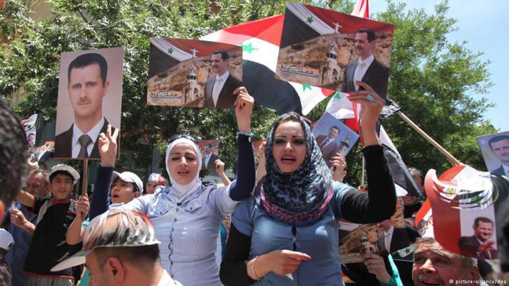 مؤيدون للأسد في سوريا