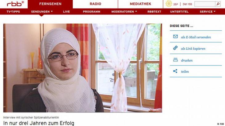 التلميذة السورية اللاجئة في ألمانيا نور ياسين قصاب