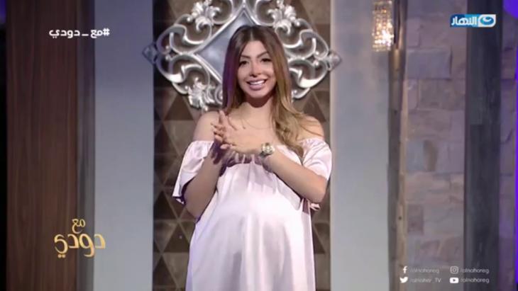 Die ägyptische Moderatorin Doaa Salah im ägyptischen TV-Sender An-Nahar ; Quelle: An-Nahar TV