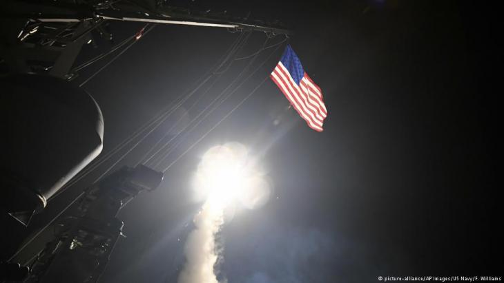 ضربة صاروخية أمريكية على موقع عسكري تابع للنظام السوري