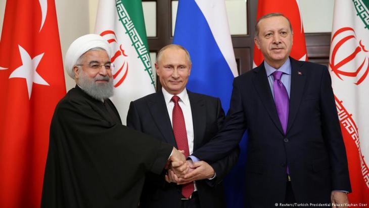 رؤساء روسيا وتركيا وإيران