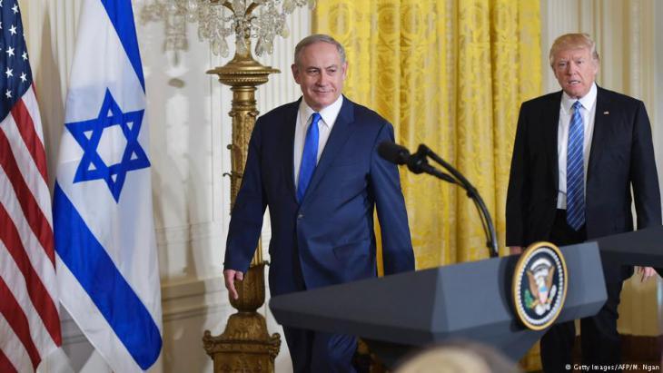 رئيس الوزراء الإسرائيلي نتنياهو والرئيس الأمريكي ترامب