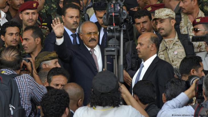 الرئيس اليمني السابق علي عبد الله صالح بين مناصريه