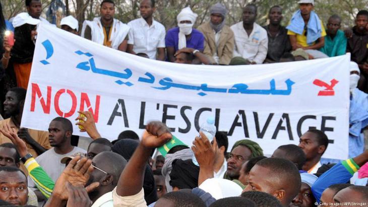 احتجاجات ضد الرق والعبودية في نواكشوط - موريتانيا. Foto: Getty Images/AFP