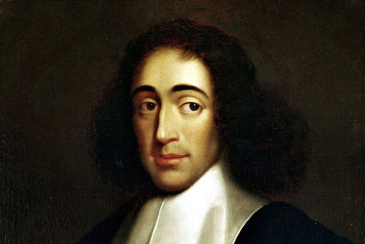 رسم مصور لـ باروخ دي اسبينوزا أحد آباء التنوير.  (1632-1677), ca. 1665 (source: Wikipedia; public domain)
