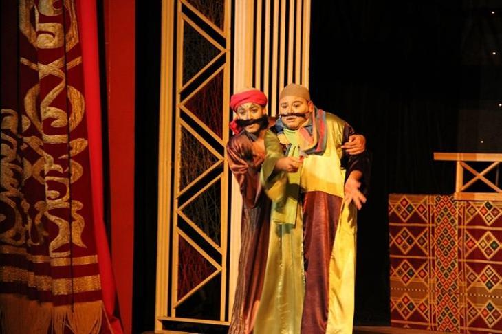 """صورة من مسرحية """"السيرة الهلامية"""" – مسرحية مصرية ساخرة.   Foto: Goethe-Institut/Hassan Emad"""