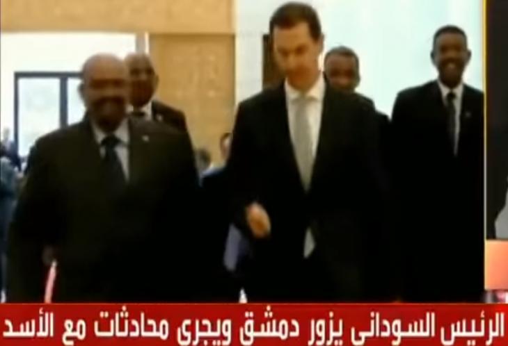 الصورة: التلفزيون الرسمي السوري