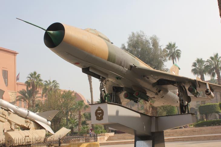 مقاتلة من طراز ميغ في المتحف الحربي المصري - القاهرة - مصر. الصورة: ملهم الملائكة