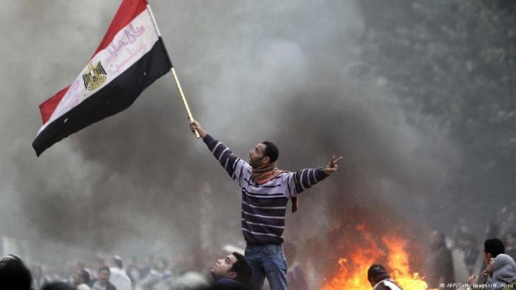متظاهرون في القاهرة ضد حكم العسكر