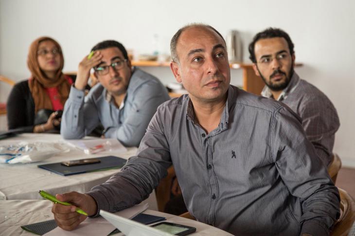 ورشة عمل حول الصحافة العلمية. Foto: Roger Anis/Goethe Institut Kairo