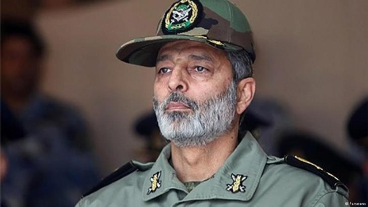 قائد الجيش الإيراني عبد الرحيم موسوي. Foto: Farsnews