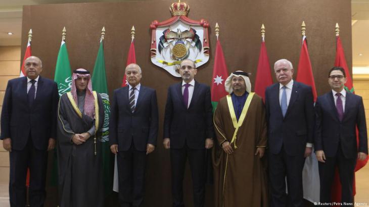 اجتماع وزراء خارجية ست دول عربية في عمان. Foto: Reuters
