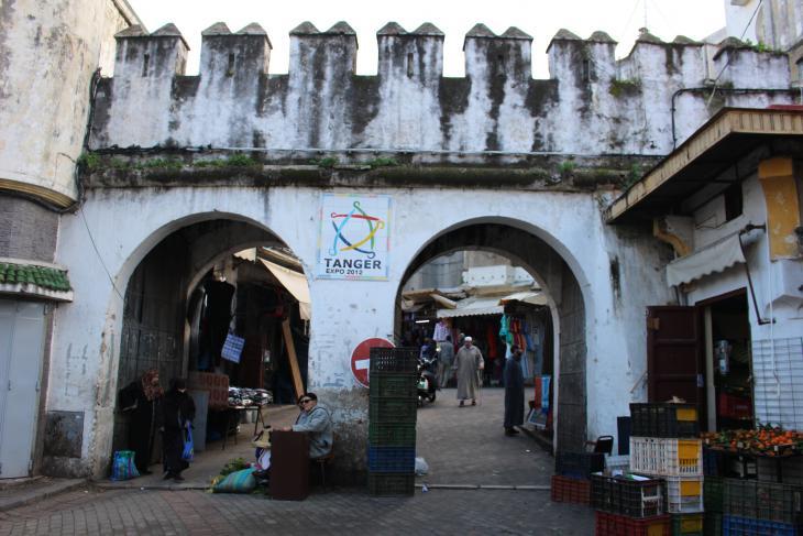 أحد أبواب مدينة طنجة القديمة - المغرب. الصورة: وصال الشيخ