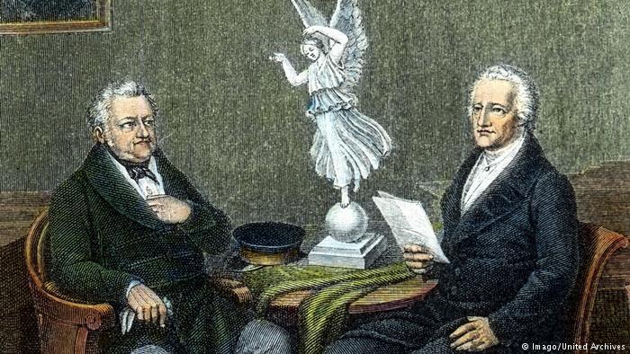 لبى رائد الأدب الألماني يوهان فولفغانغ فون غوته سريعا طلب دوق منطقة عاصمتها مدينة فايمر ليتولى هناك ابتداء من عام 1775 منصب وزير .