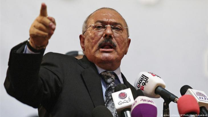 الرئيس اليمني السابق علي عبد الله صالح. Foto:picture-alliance/AP