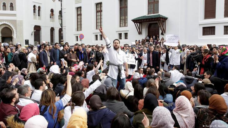 إضراب الأطباء في عاصمة الجزائر. Foto: Reuters