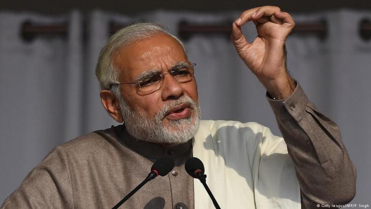رئيس وزراء الهند ناريندرا مودي. Foto: AFP/Getty Images