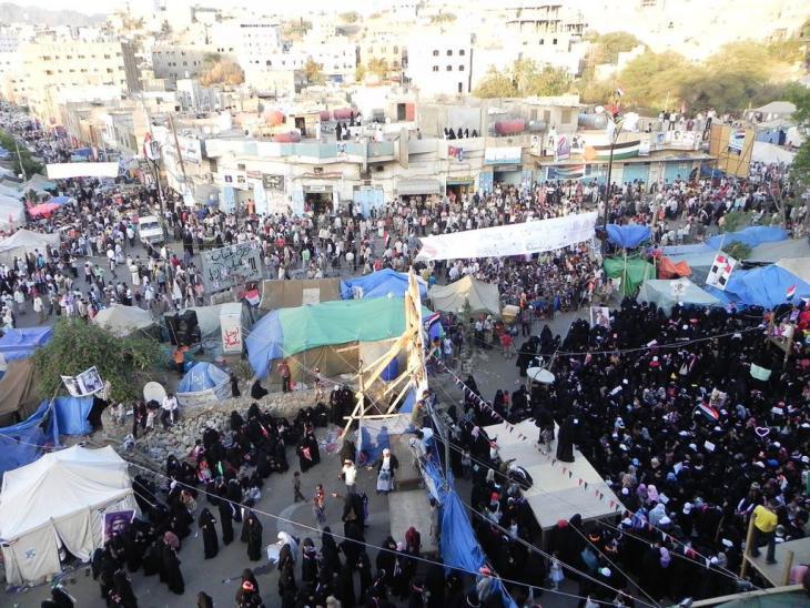 ساحة الحرية في مدينة تعز – اليمن. wikimedia