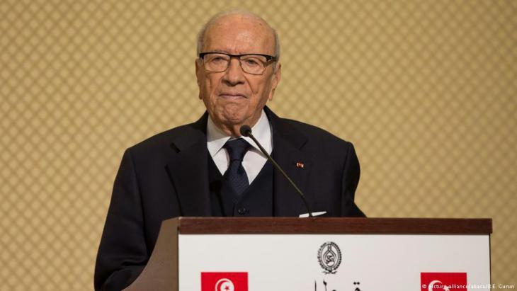الرئيس التونسي الباجي قائد السبسي. Foto: picture-alliance/abaca