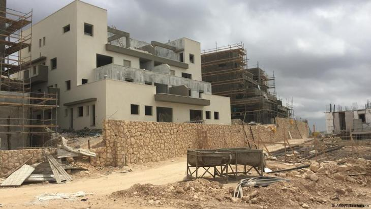 مستوطنة يهودية على أراضٍ فلسطينية. Foto: ARD/T.Teichmann