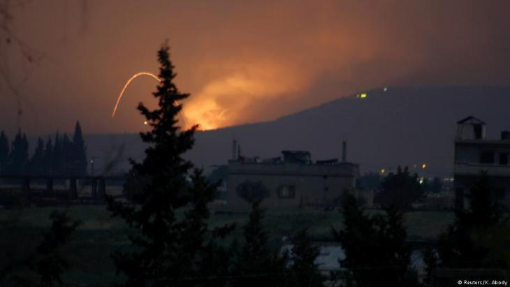 هجوم صاروخي قرب حماة - سوريا.  Syrien; Foto: Reuters