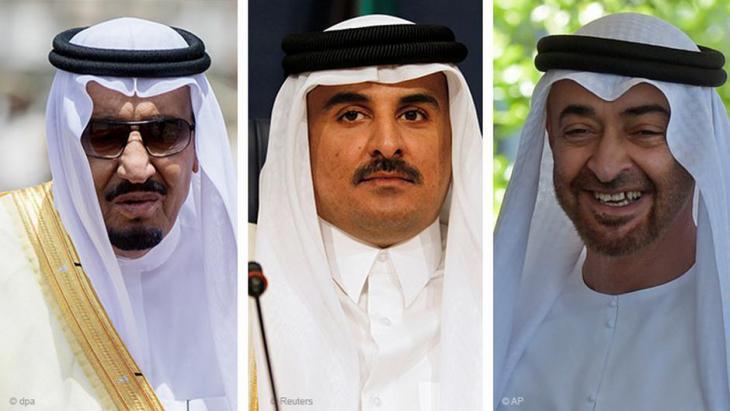زعماء الإمارات وقطر والسعودية.