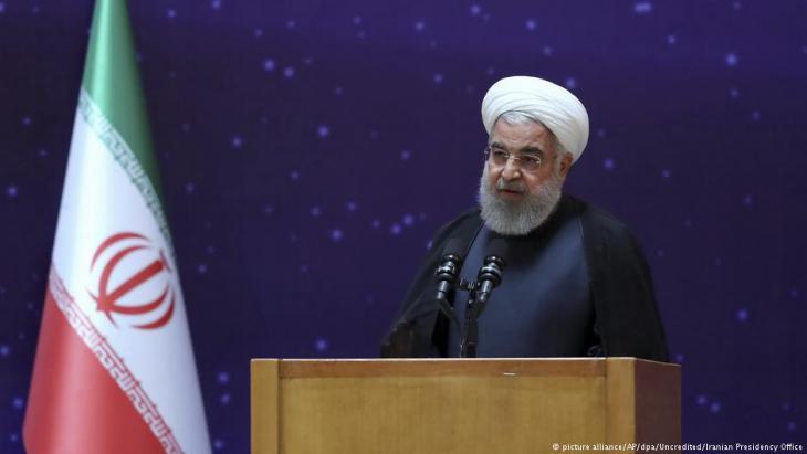 الرئيس الإيراني حسن روحاني. Foto: picture-alliance/dpa/AP