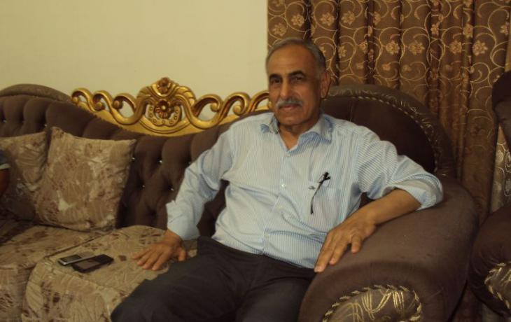 السياسي العراقي السُّني حامد المطلك من محافظة الأنبار. Foto: Birgit Svensson