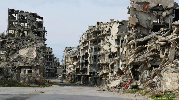 الدمار في مدينة حمص - سوريا.