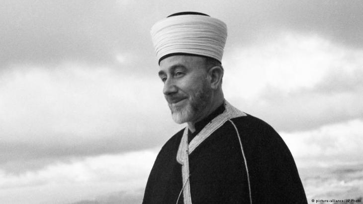الصورة من عام 1947. سنة 1941، رافق دبلوماسيون ألمان الشيخ أمين الحسيني إلى برلين، والذي عمل في خدمة النازيين حتى نهاية الحرب.  Foto: picture-alliance/AP