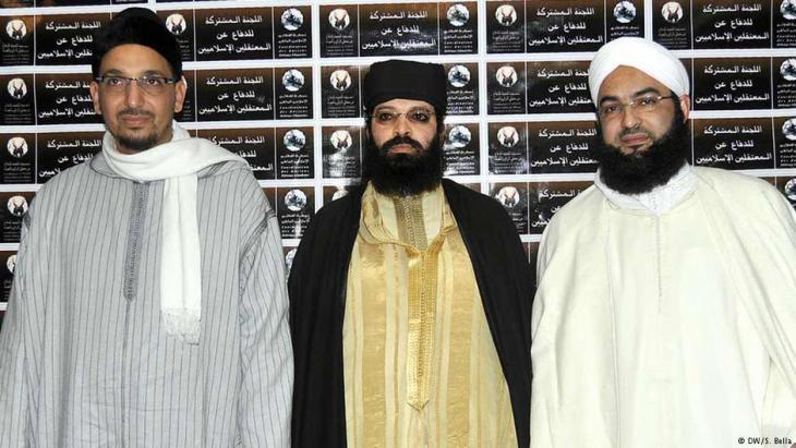 ثلاثة شيوخ سلفيون مغربيون. Foto: DW