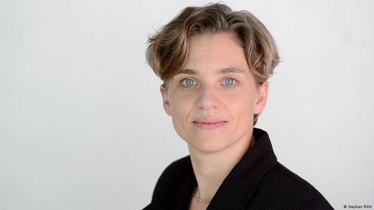 بينته شيلَر مديرة مؤسسة هاينريش بول الألمانية في بيروت.