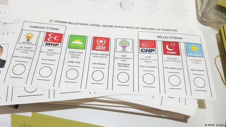 رموز الأحزاب المتنافسة في انتخابات تركيا الرئاسية التشريعية المبكرة الأحد 24 / 06 / 2018