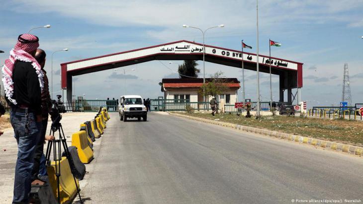 حدود الأردن مع سوريا قرب درعا