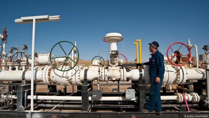 حقل نفطي في كردستان العراق. Foto: picture-alliance/dpa