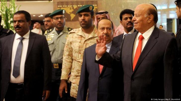 الرئيس عبد ربه منصور هادي في العاصمة السعودية الرياض . الصورو غيتي وأ.ف.ب