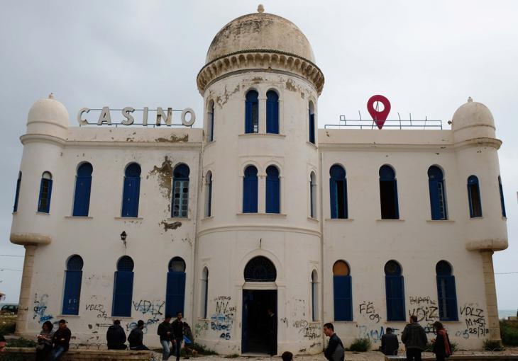 """كازينو """"حمام الأنف"""" سابقا، الذي يقع في مدينة حمام الأنف جنوبي تونس العاصمة. Foto: Sarah Mersch"""