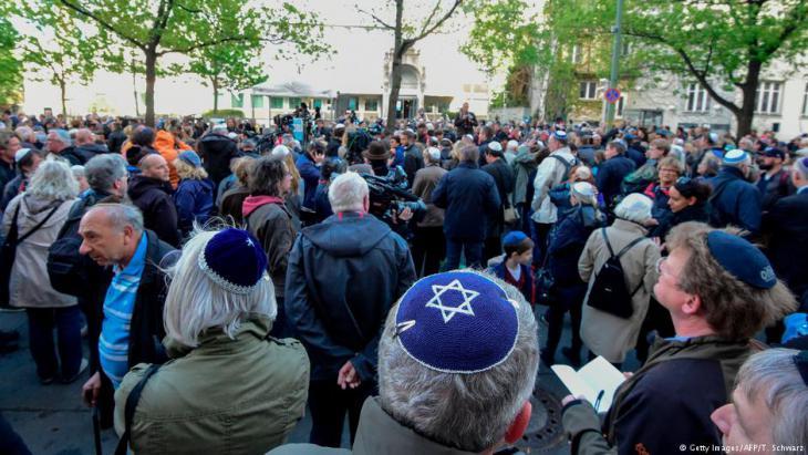 مظاهرة ضد العداء للسامية في برلين ألمانيا