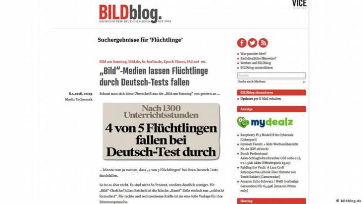 عنوان صحفي من صحيفة بيلد الألمانية حول اللاجئين