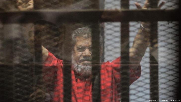 رئيس مصر الأسبق السجين محمد مرسي. Foto: picture-alliance/dpa/M. Hossam