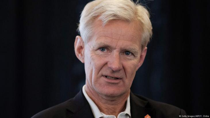 النرويجي يان إيغلاند كان نائب وزير الخارجية وأصبح منسق الشؤون الإنسانية لدى الأمم المتحدة في سوريا.  Foto: AFP/Getty Images