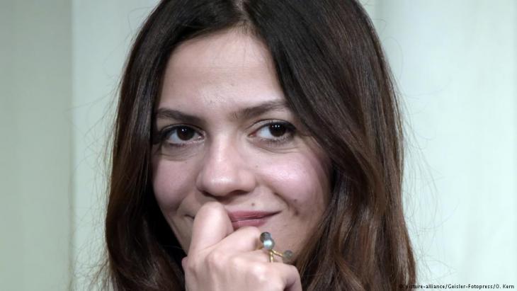 ديمة ونوس كاتبة وصحفية تلفزيونية سورية معروفة.  Foto: picture-alliance