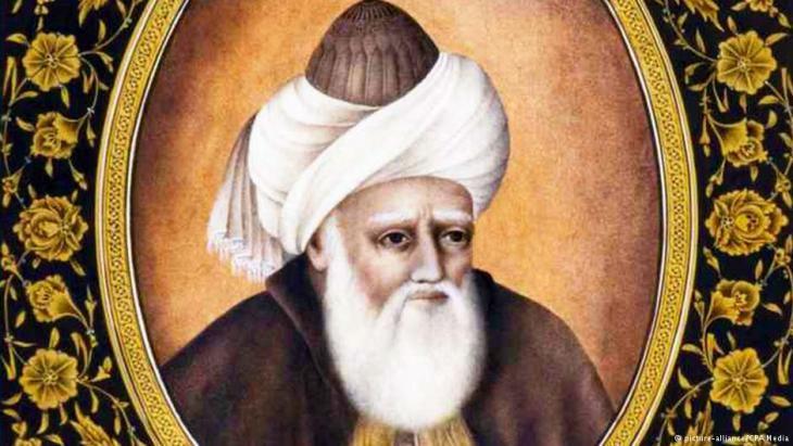 صورة مرسومة - الفيلسوف والمفكر الصوفي جلال الدين الرومي. (photo: dpa/CPA Media)
