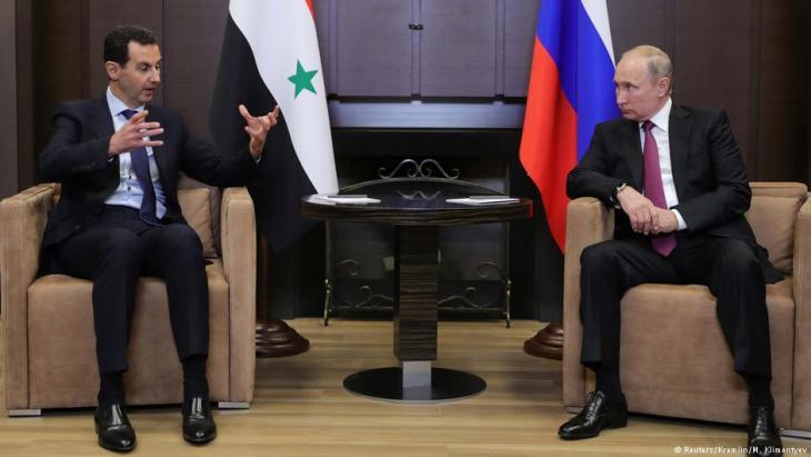 بشار الأسد في لقاء مع فلاديمير بوتين. Foto: Reuters